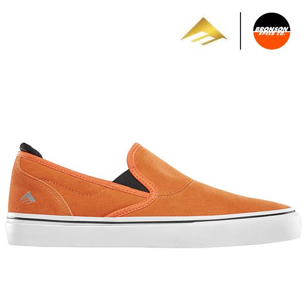 【Emerica×BRONSON】WINO G6 SLIP-ON カラー:orange エメリカ ブロンソン ワイノ スリッポン スケートボード スケボー SKATEBOARD シューズ 靴 スニーカー