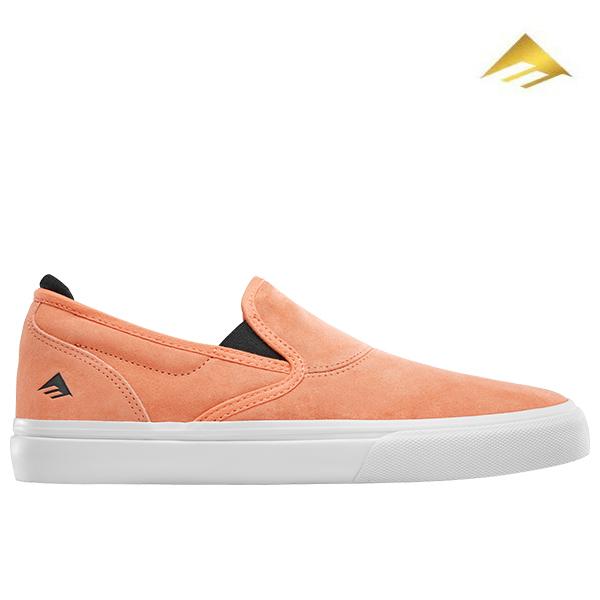 【Emerica】WINO G6 SLIP-ON カラー:peach エメリカ ワイノ スリッポン スケートボード スケボー SKATEBOARD シューズ 靴 スニーカー