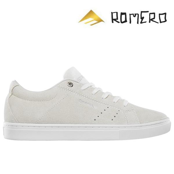【Emerica】ROMERO AMERICANA カラー:white エメリカ ロメロ アメリカーナスケートボード スケボー SKATEBOARD シューズ 靴 スニーカー