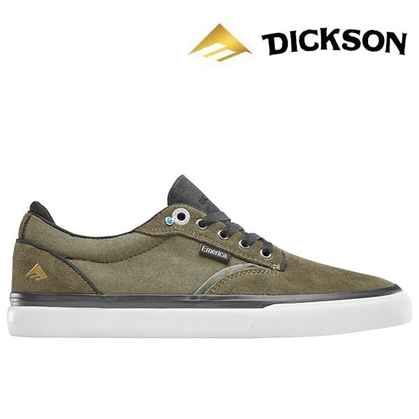 【Emerica】DICKSON カラー:olive/black エメリカ ジョン ディクソン スケートボード スケボー SKATEBOARD シューズ 靴 スニーカー
