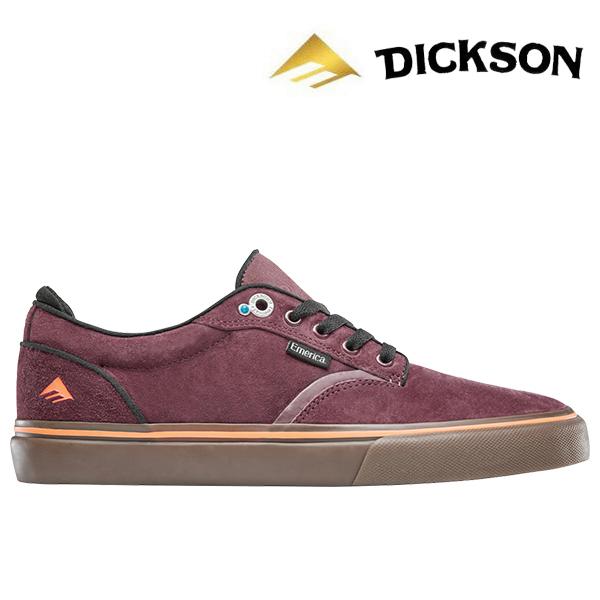【Emerica】DICKSON カラー:burgundy/gum エメリカ ジョン ディクソン スケートボード スケボー SKATEBOARD シューズ 靴 スニーカー