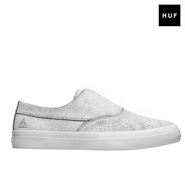 【HUF】DYLAN SLIP ON カラー:white/black ハフ ディラン スリッポン スケートボード スケボーシューズ 靴 スニーカー SKATEBOARD SHOES