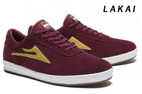 【LAKAI】SHEFIELD XLK カラー:burgundy/gold suede 【ラカイ】【スケートボード】【シューズ】