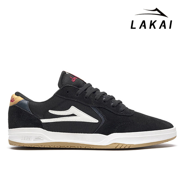 【LAKAI×CHOCOLATE】ATLANTIC カラー:black/yellow suede ラカイ チョコレート アトランティック スケートボード スケボー シューズ 靴 スニーカー SKATEBOARD SHOES