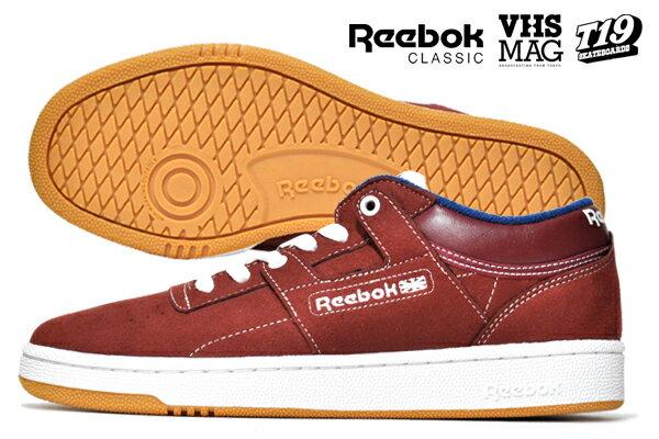 【REEBOK×T19×VHSMAG】CLUB WORKOUT VHS カラー:marron/blue/white/gum CN7720【リーボック】【ティーナインティーン】【ブイエイチマグ】【スケートボード】【シューズ】
