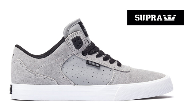 【SUPRA】ELLINGTON VULCカラー:grey/black-white 08117-038【スープラ】【スケートボード】【シューズ】