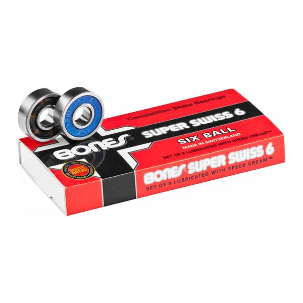 【BONES】SUPER SWISS six ball bearing ボーンズ ベアリング スイス パーツ スケートボード スケボー SKATEBOARD