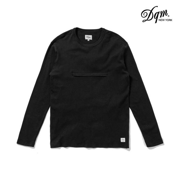 【DQM】90's HEAVY JERSEY POCKET カラー:black 【ディーキューエム】【スケートボード】【クルーネック/ロングスリーブ】