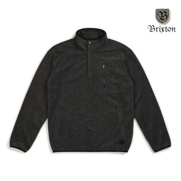 【BRIXTON】HIGGINS pullover カラー:heather black ブリクストン フリース トップス スケートボード スケボー SKATEBOARD