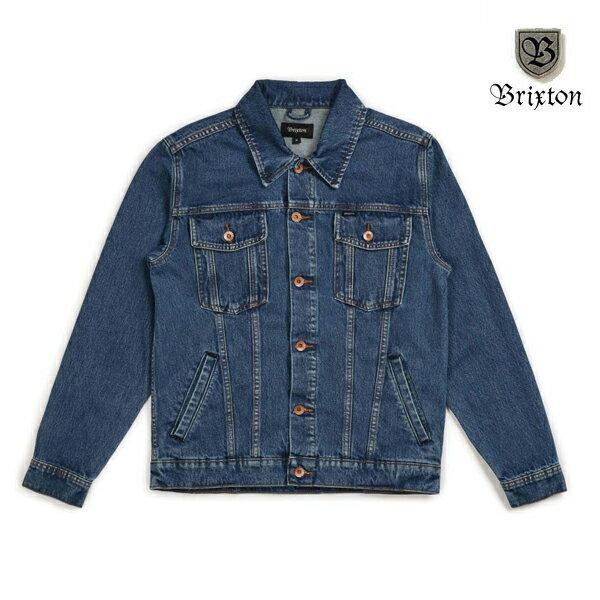 【BRIXTON】CABLE DENIM jacket カラー:worn indigo ブリクストン ジャケット デニム ジージャン スケートボード スケボー SKATEBOARD
