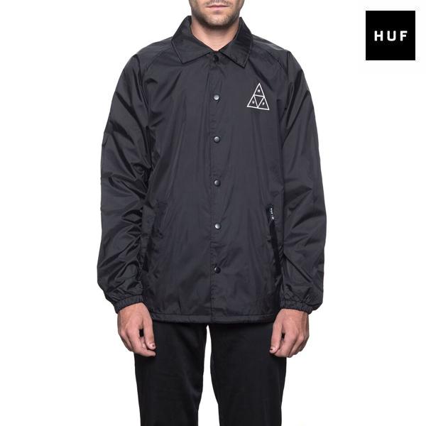 【HUF】TRIPLE TRIANGLE COACHS JACKET カラー:black 【ハフ】【スケートボード】【ジャケット】