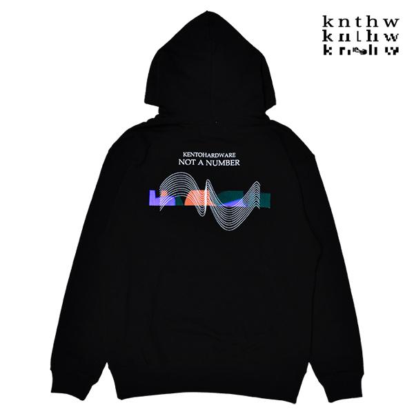 【KNTHW】NOT A NUMBER HOODIE カラー:black ケント ハードウェア フード パーカー プルオーバー スケートボード スケボー SKATEBOARD