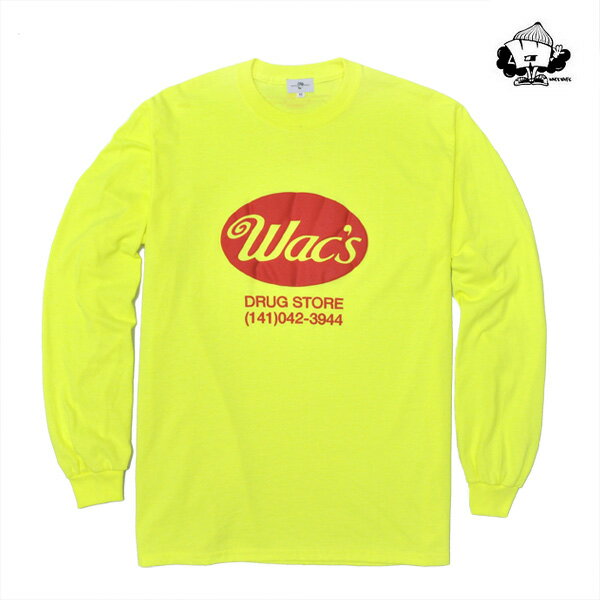 【WACKWACK】WAC'S long sleeve カラー:yellow スケートボード スケボー SKATEBOARD ワックワック Tシャツ 長袖
