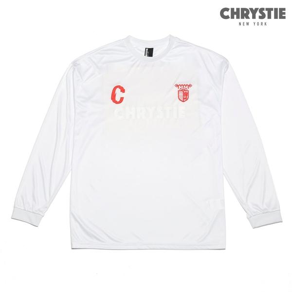 【CHRYSTIE】CHRYSTIE X CSC SOCCER JERSEYカラー:away white 【クリスティ】【スケートボード】【Tシャツ/長袖】