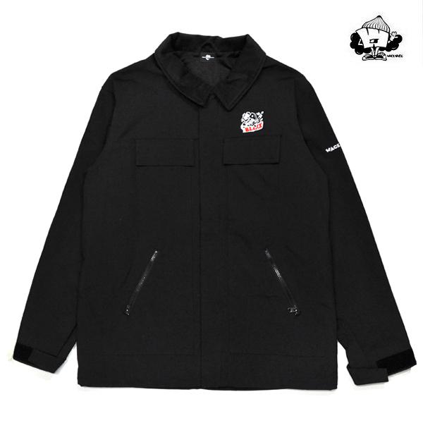 【WACKWACK】BLOCK REMAKE CORDURA NYLON JACKET カラー:black スケートボード スケボー SKATEBOARD ワックワック ジャケット