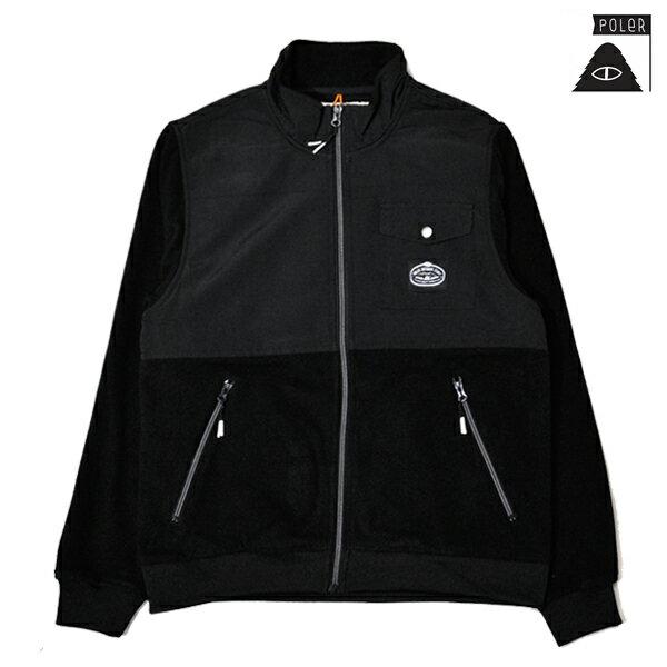 【POLER】CEDAR FLEECE カラー:blackPOLER ポーラー キャンプスケートボード スケボートップス フリース