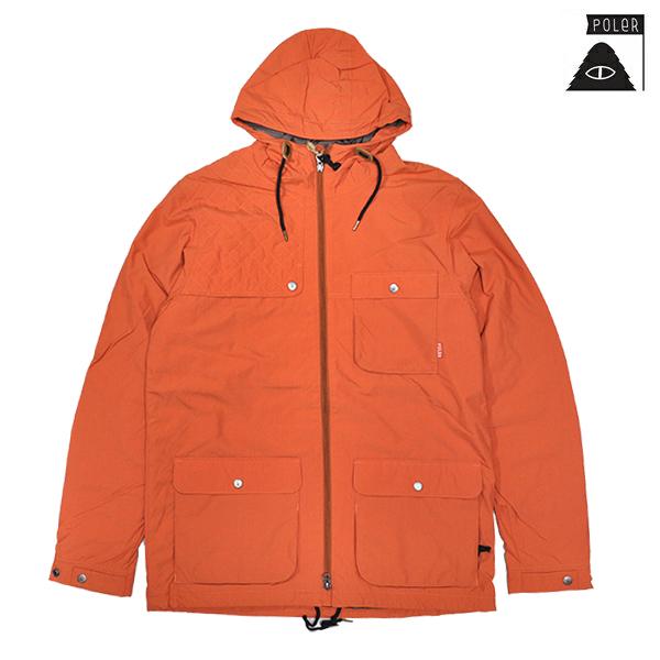 【POLER】OUTPOST JACKET カラー:burnt orange ポーラー キャンプ ジャケット スケートボード スケボー SKATEBOARD