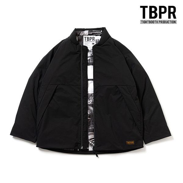 【TBPR/TIGHTBOOTH PRODUCTION】FORTRESS PUFF JKT カラー:black タイトブース ジャケット ダウン スケートボード スケボー SKATEBOARD