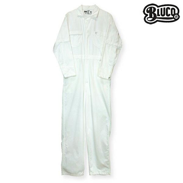 【BLUCO WORK GARMET】DELUXE COVERALL カラー:white 【ブルコ】【スケートボード】【パンツ】