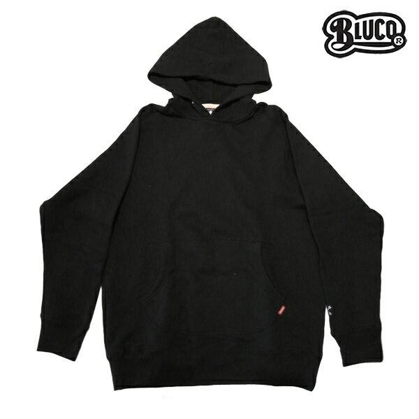 【BLUCO】PULL-OVER SWEAT PARKA カラー:black OL-020-017 【ブルコ】【スケートボード】【プルオーバー/パーカー】
