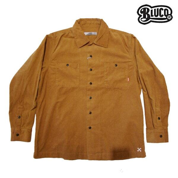 【BLUCO】CORDUROY WORK SHIRTS L/S カラー:camel OL-109c-017 【ブルコ】【スケートボード】【シャツ/長袖】
