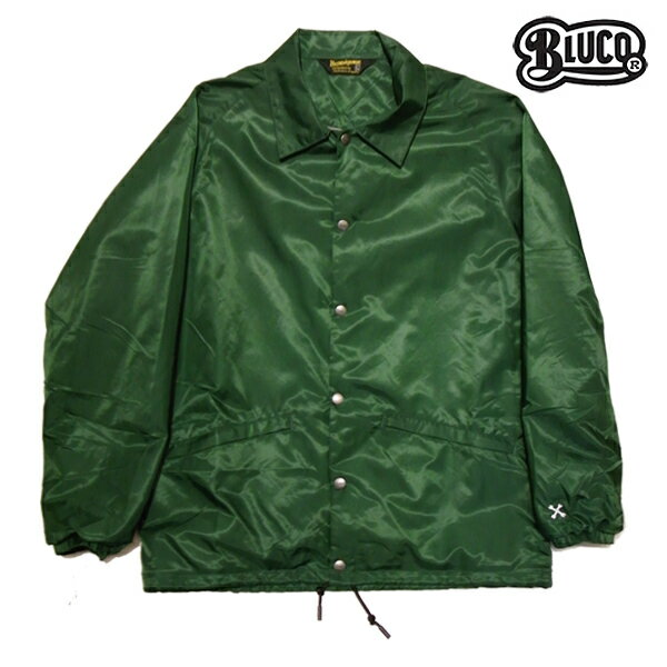 【BLUCO WORK GARMET】COACH JACKET OL-041-017カラー:green 【ブルコ】【スケートボード】【ジャケット】