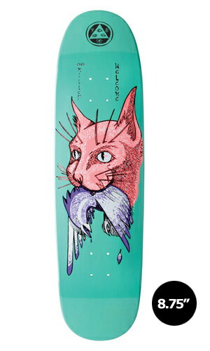 【WELCOME skateboards】Chris Miller CAT GETS BIRD -teal-CATBLOOD 2.0【ウェルカム】【スケートボード】【デッキ】【8.75インチ】選べる無料のデッキテープ付き!