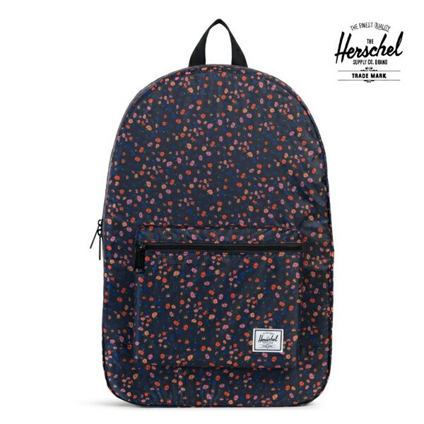 【HERSCHEL】PACKABLE TRAVEL DAYPACK カラー:black mini floral ハーシェルスケートボード バッグSKATEBOARD BAG