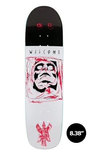 【WELCOME skateboards】PAZUZU SON OF PLANCHETTE 【ウェルカム】【スケートボード】【デッキ】【8.38インチ】選べる無料のデッキテープ付き!