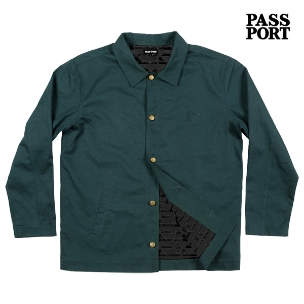 【PASSPORT】POOL WORKERS JACKET カラー:forest ocean 【パスポート】【スケートボード】【ジャケット】