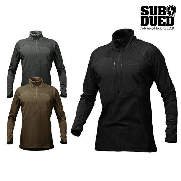 【SUBDUED】ARCTIC Half zip shirtカラー:black / foliage green / coyote brown 【サブデュード】【スケートボード】【長袖】