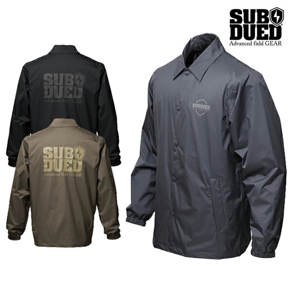 【SUBDUED】COACH jacketカラー:charcoal / khaki / black 【サブデュード】【スケートボード】【ジャケット】