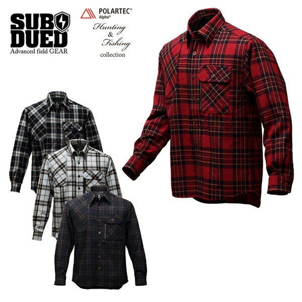 【SUBDUED】ULLR SHIRT カラー:red / white / black / navy 【サブデュード】【スケートボード】【シャツ/長袖】
