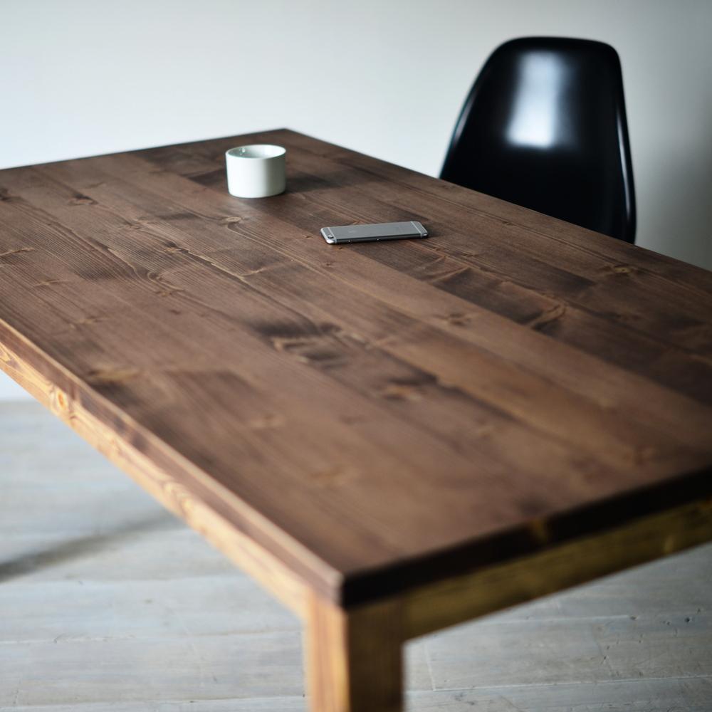 USテーブル150 ダイニングテーブル パイン 送料無料 インダストリアル アメリカ カリフォルニア スタイル サイズオーダー 木製 無垢材 長机 カフェテーブル 食卓テーブル ダイニング 120 130 140 150 160 170 180 おしゃれ 国産 日本製 大川家具