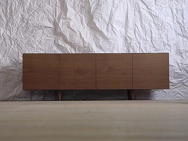テレビボード テレビラック テレビ台 TV台 木製 日本製 国産 大川家具 37インチ 42インチ 52インチ対応 QUBE TVボード ウォールナット