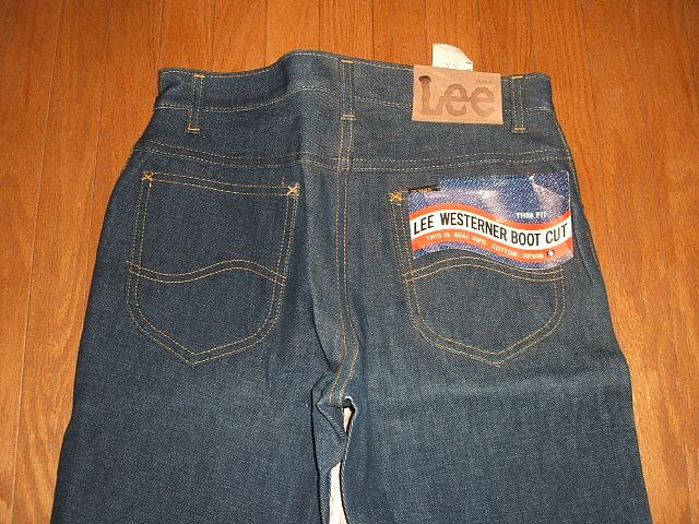 Lee(ri)201-2541 Boots Cut(长筒靴cut)1970年代实物复古滞销商品MADE IN USA(美国制造)W29×L32