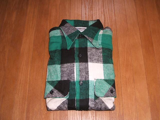 実物ビンテージ MADE USA(アメリカ製) 1980年代 FIVE BROTHER(ファイブブラザー) デッドストック IN ヘビーウェイトチェックネルシャツ