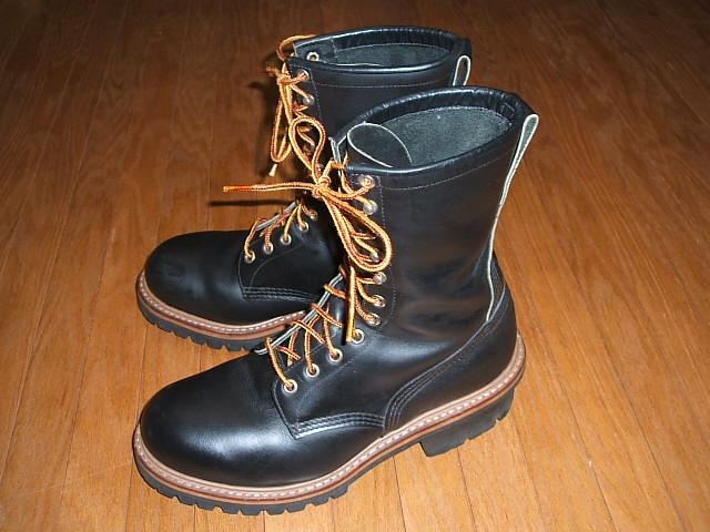 RED WING(レッドウィング) 2218 Logger Boots(ロガーブーツ) 旧プリント羽タグ PT91 サイド刻印入り 1993年製 実物ビンテージ 【中古】