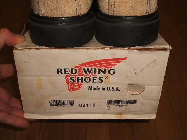 爱尔兰塞特犬 (爱尔兰塞特犬) 生产绒面革红翼 (红翼) 8118 SUPERSOLE (至尊) 停止模型老绣标记 20 世纪 90 年代取得真正老式的翅膀