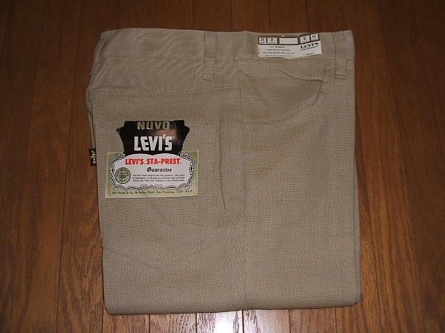 LEVIS(リーバイス) 646 Bell Bottoms(ベルボトム) STA-PREST(スタープレスト) Lot 646-44 Big-E(ビッグE) 1970年代 TALON(タロン)ジッパー使用 実物ビンテージデッドストック W29×L31