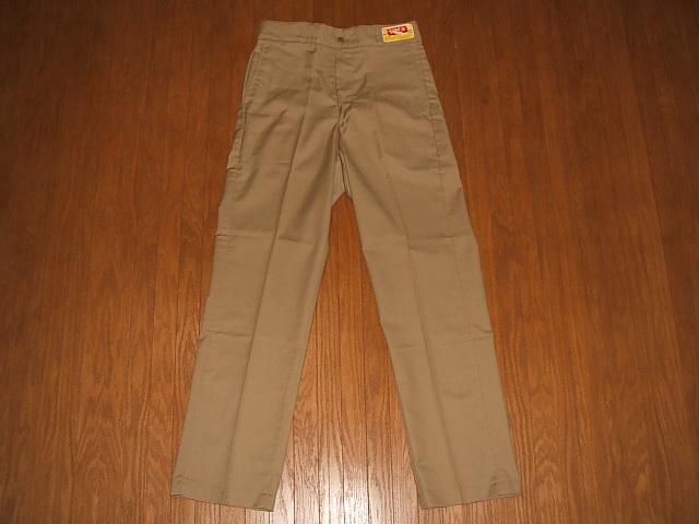 Tuf-Nut(强壮的螺母)1970年代工作裤Khaki(黄褐色)MADE IN USA(美国制造)实物滞销商品W32×L33