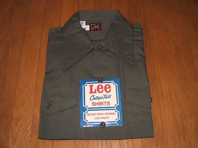Lee(リー) 1970年代 実物ビンテージ Chetopa Twill Work Shirts(チェトパツイル 半袖ワークシャツ) Lot 120-5531 MADE IN USA(アメリカ製) 実物デッドストック
