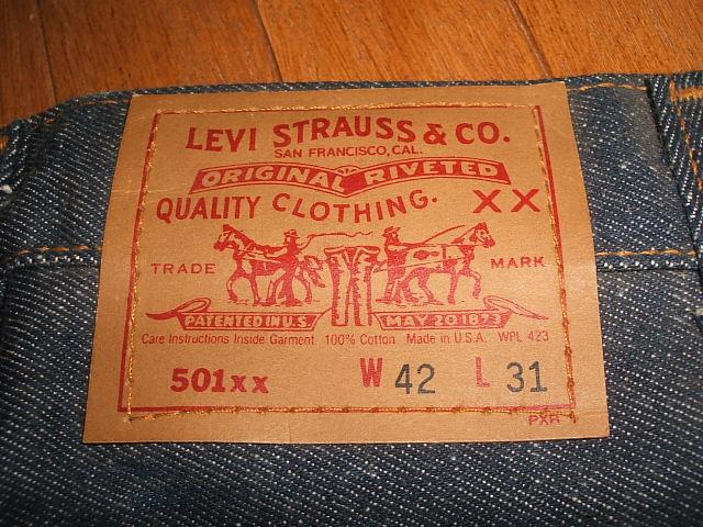 (李维斯) LEVIS 501 20 世纪 80 年代美国 (美国制造) 真正 deadstock 大尺寸 W42 × L31