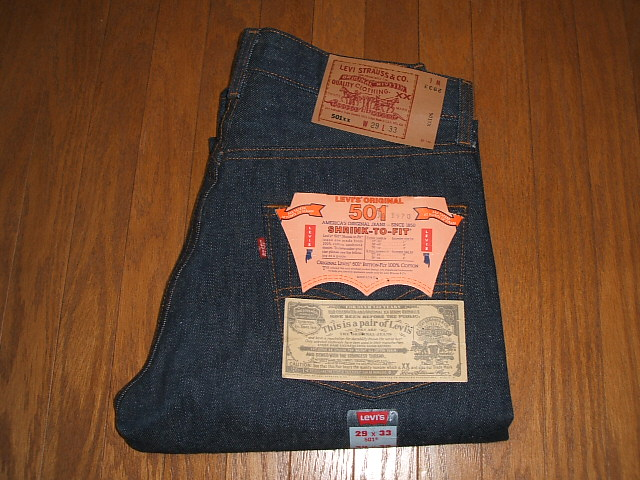 W29×L33 IN MADE 501 実物デッドストック 1990年代 LEVIS(リーバイス) USA(アメリカ製)
