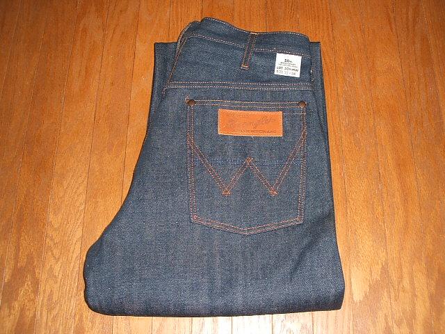 牧马人 (wrangler 牌) 50 thMW 粗斜纹棉布裤子 50 周年纪念模型重印版未使用存量不活 W32 × l34 水煮