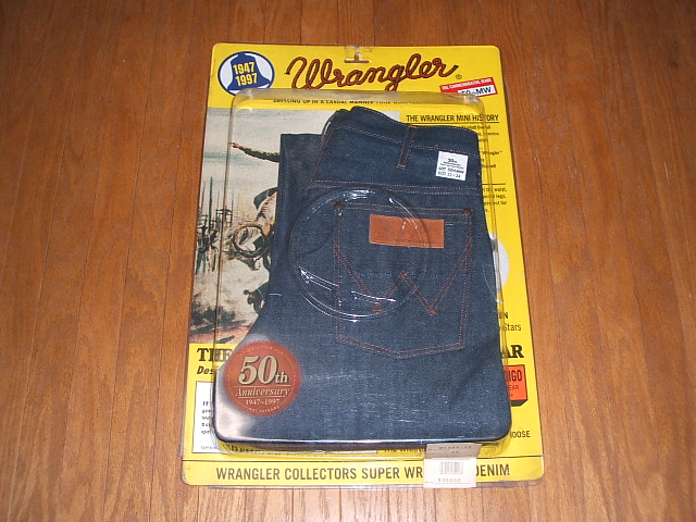 clients first sale online elegant appearance Model recreation of the 50th anniversary of WRANGLER (Wrangler) 50thMW  denim underwear-free dead stock W32 X L34