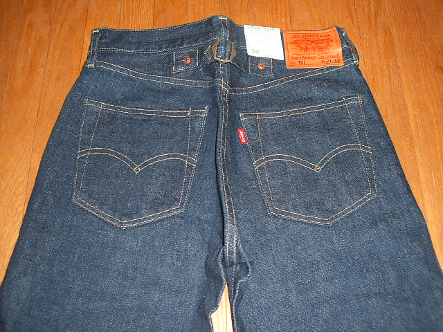 (Levis) LEVIS 701 XX (501 xx 702xx) 1920's models MADE IN JAPAN (made in Japan) 1998-Reprint Edition W34×L36 unused dead stock