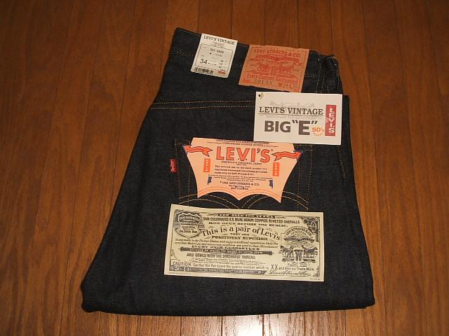 IN W33×L36 トップボタン裏555 復刻版 1955年モデル LEVIS(リーバイス) デッドストック MADE 501XX バレンシア工場製 USA(アメリカ製)
