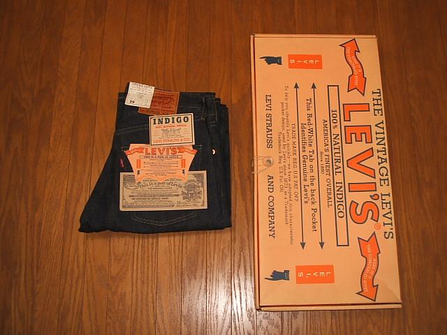 LEVIS(リーバイス) 503BSXX(503BXX 501XX) 1900年代初期モデル 復刻版 天然インディゴ本藍染 MADE IN JAPAN(日本製) 1991年製 W29×L33 未使用デッドストック