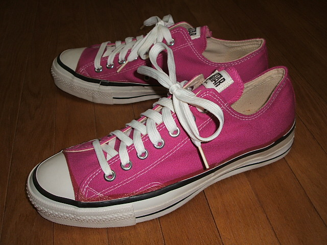 CONVERSE (Converse) ALL STAR (all stars) Low (low) Raspberry (raspberry) MADE IN USA (product made in United States) mid 1980s real thing dead stock